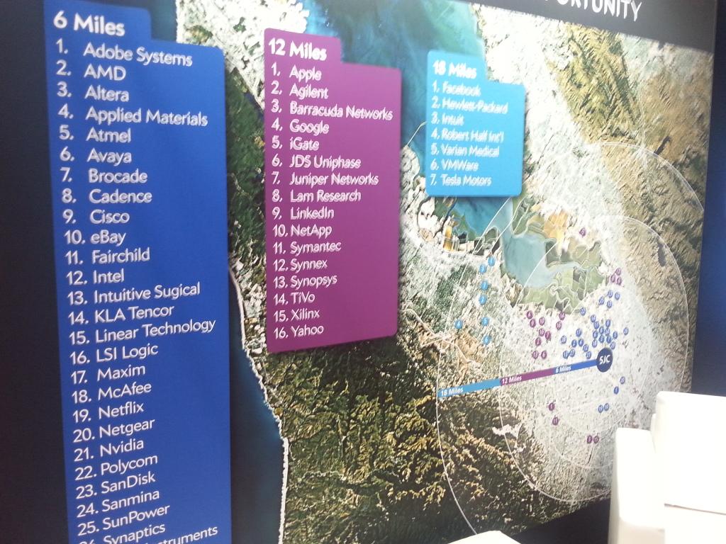 El aeropuerto de San José (SJC) en California. Su principal mercado? Silicon Valley.